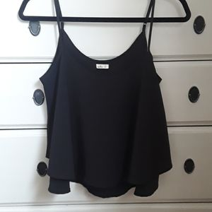 Like new condition- Hollister black tank top.